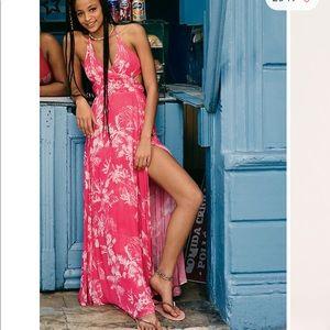 NWT free people printed maxi dress